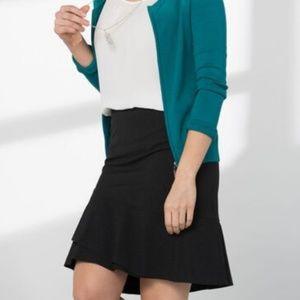 Ricki's Pinstripe Flounce Skirt (sz 10, blk & wh)